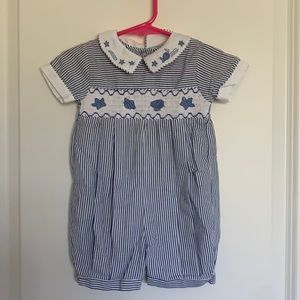 Carriage Boutiques Boy's Seersucker Outfit 9M